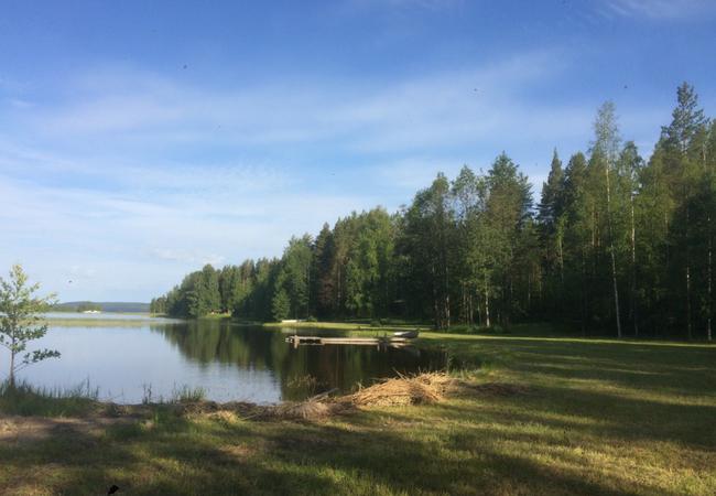Aholanraitin-vuokramökit-mökkiloma-aamulla